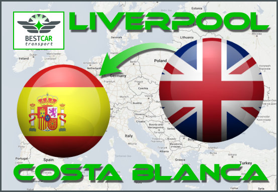 Car Transport Form Liverpool to Costa Blanca