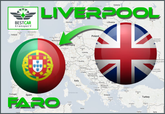 Car Transport Form Liverpool to Faro