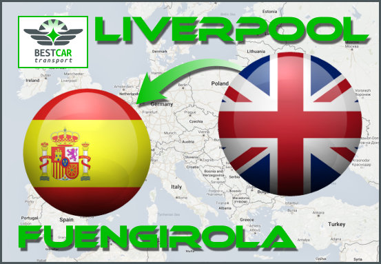 Car Transport Form Liverpool to Fuengirola