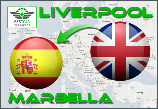 Car Transport Form Liverpool to Marbella