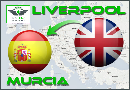 Car Transport Form Liverpool to Murcia