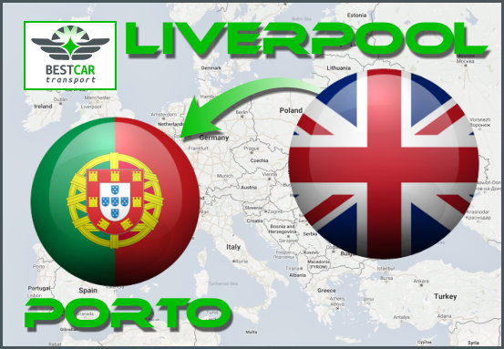 Car Transport Form Liverpool to Porto