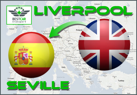 Car Transport Form Liverpool to Seville