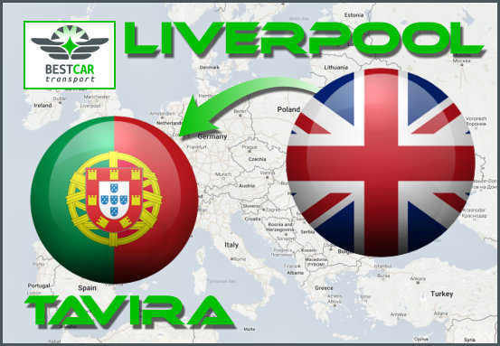 Car Transport Form Liverpool to Tavira