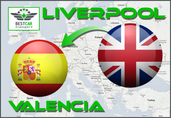 Car Transport Form Liverpool to Valencia