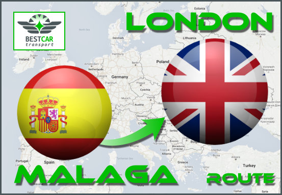 Car Transport Form Málaga to London