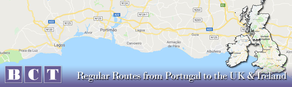 From Lagos Portugal to the UK and Ireland - Best Car Transport services
