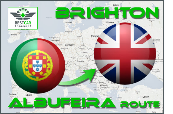 Car Transport From Albufeira to Brighton