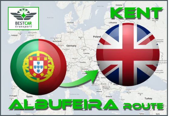 Car Transport From Albufeira to Kent