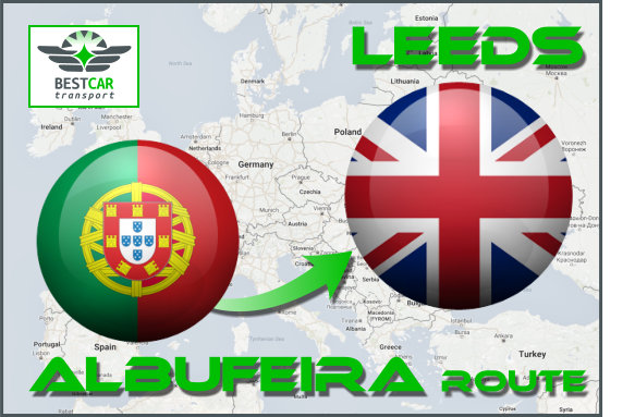 Car Transport From Albufeira to Leeds