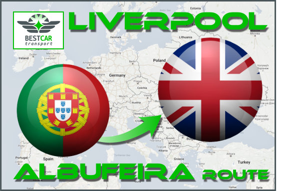 Car Transport From Albufeira to Liverpool