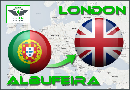 Car Transport From Albufeira to London