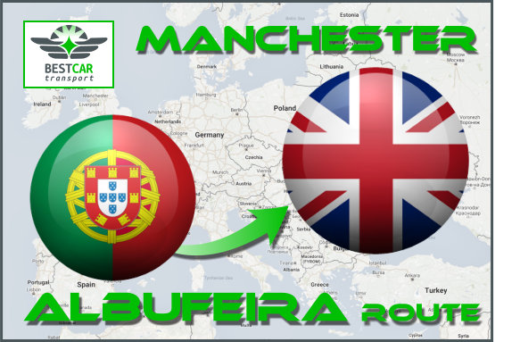 Car Transport From Albufeira to Manchester