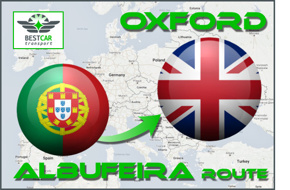 Car Transport From Albufeira to Oxford