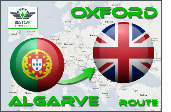 Car Transport From Algarve to Oxford