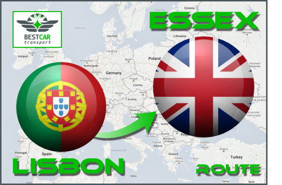 Car Transport From Lisbon to Essex