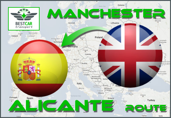 Car Transport Form Manchester to Alicante