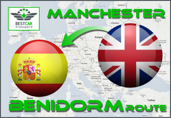 Car Transport Form Manchester to Benidorm