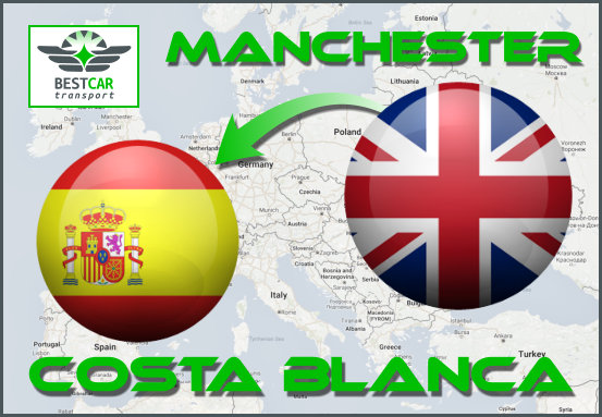 Car Transport Form Manchester to Costa Blanca