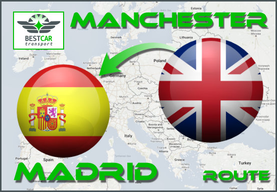 Car Transport Form Manchester to Madrid