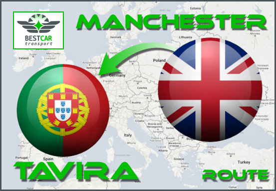 Car Transport Form Manchester to Tavira