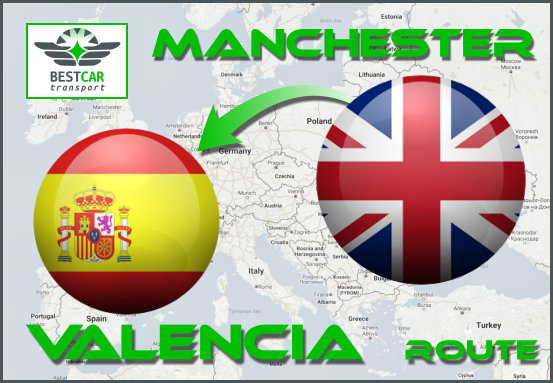 Car Transport Form Manchester to Valencia