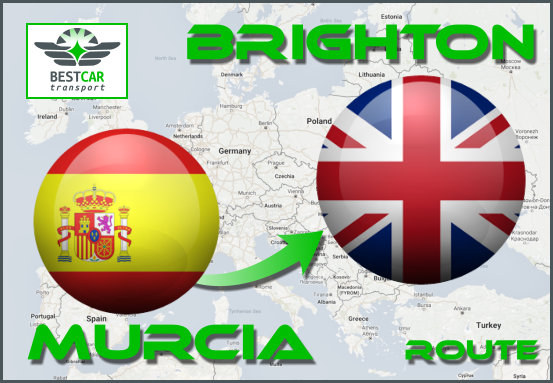 Car Transport Form Murcia to Brighton