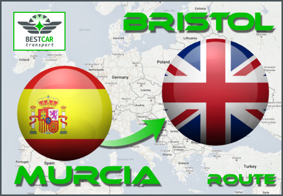 Car Transport Form Murcia to Bristol
