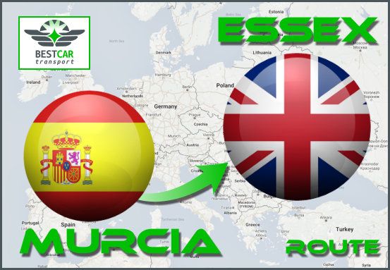 Car Transport Form Murcia to Essex