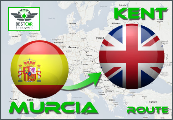 Car Transport Form Murcia to Kent