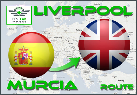 Car Transport Form Murcia to Liverpool