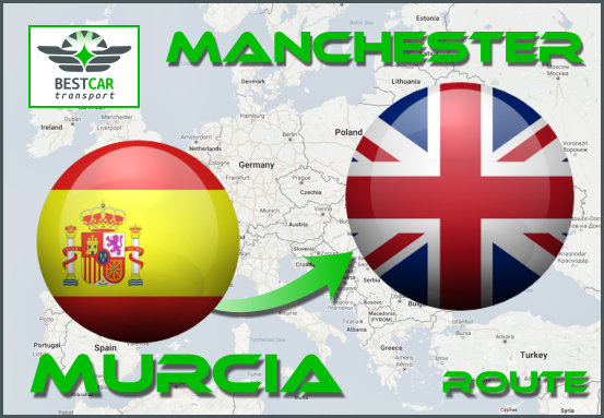 Car Transport Form Murcia to Manchester