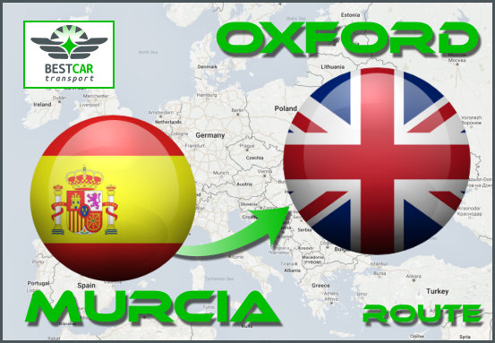 Car Transport Form Murcia to Oxford