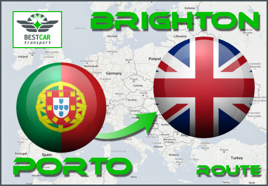 Car Transport From Porto to Brighton