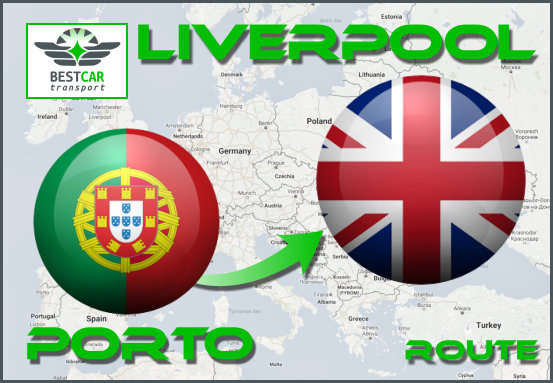 Car Transport From Porto to Liverpool