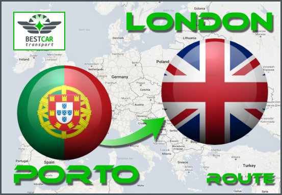 Car Transport From Porto to London