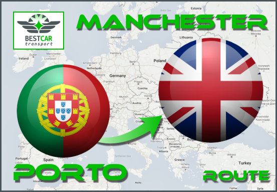 Car Transport From Porto to Manchester